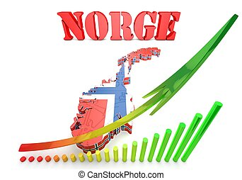 map illustration of Norway - 3d map illustration of Norway...