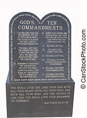 The ten Commandments - The ten commandments in stone