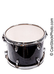 classic black music bass drum on white background - photo of...