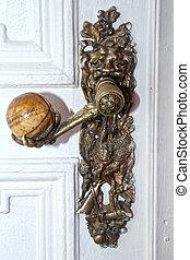old metal door-handle