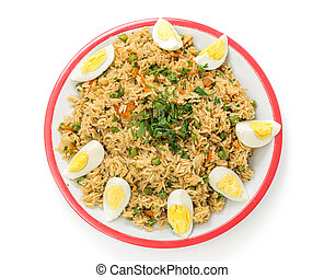 English kedgeree from above - English-style breakfast...