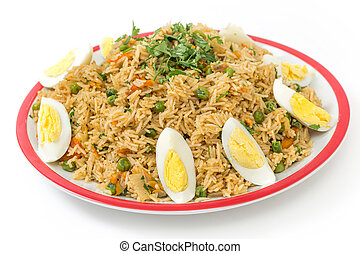 English kedgeree - English-style breakfast kedgeree, a meal...