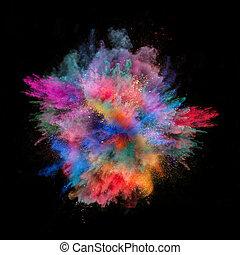 coloré, poussière,
