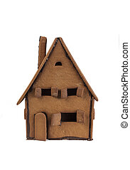 Gingerbread house isolated - Front of a gingerbread house...