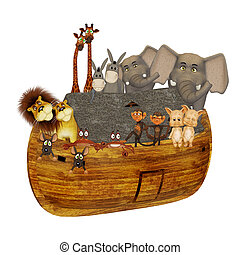 Noahs ark - isolated on the white background