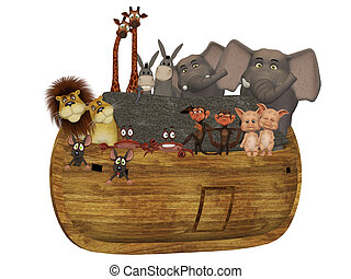 Noah's ark - isolated on the white background