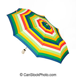 Bright umbrella, automatically opening, stripes ornament