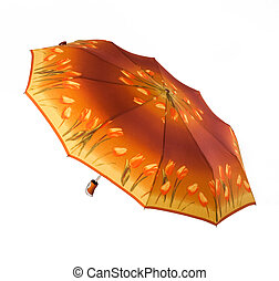 Bright umbrella, automatically opening, tulip ornament