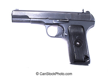 9mm weapon isolated on the white background