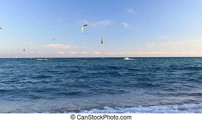 Surfers on the spanish beach