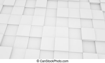white mat cubes moving loopable - white mat cubes moving...