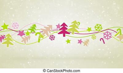christmas symbols loopable holiday