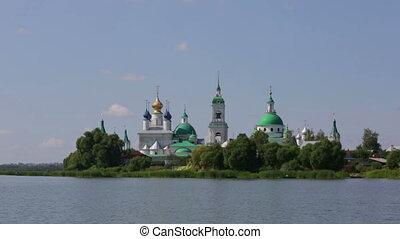 Walk on Nero's lake near Spaso-Yakovlevsky Monastery in Rostov