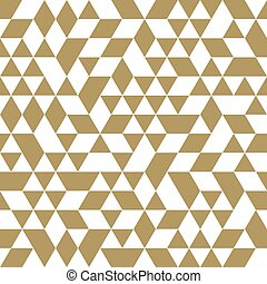 Geometric Seamless Vector Abstract Pattern - Geometric...