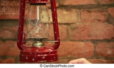 Kindle kerosene  lamp  - Kindles old kerosene lamp bat