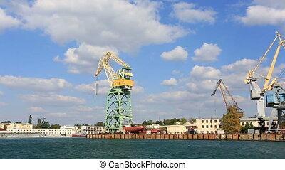 harbor cranes Sevastopol bay