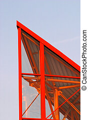 Modern roof fragment - Roof fragment of the modern building...