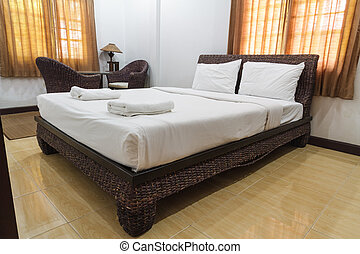 Bedroom luxury design and pillow in hotel