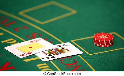 Black jack in casino