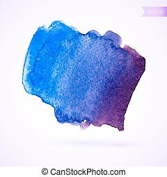 watercolor stain - Abstract watercolor splash. Watercolor...