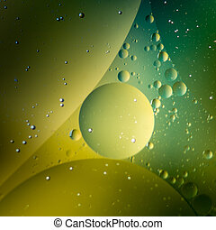oil on water on colorful background