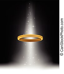 An angel halo for you design - vector illustration of An...