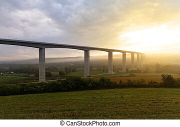 Large highway viaduct Hungary - Large highway viaduct with...