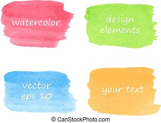 Collection of watercolor stains