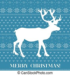 Christmas Card - Scandinavian Knit Style - in vector