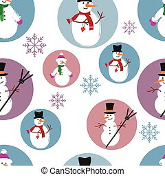template of snowmen on blue and purple background