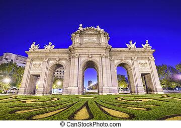 puerta de alcala gate - Madrid, Spain at Puerta de Alcala...