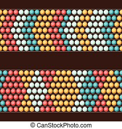 Ethnic african beads abstract color seamless pattern