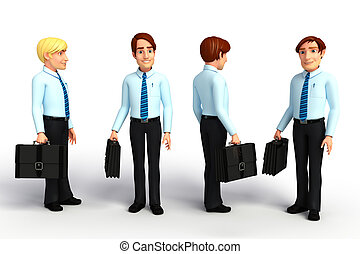 Young service man  - Illustration of young service man