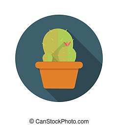 Cactus Flat Design Concept Icon Vector Illustration With...