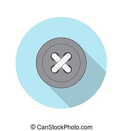 Flat Design Concept Button Icon Vector Illustration With...