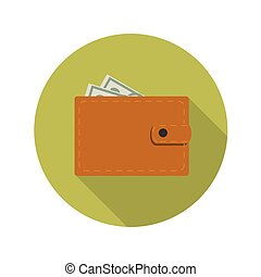 Flat Design Concept Wallet Vector Illustration With Long...