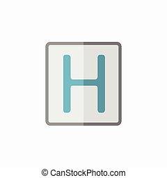 Hospital Flat Icon - Hospital. Medical Flat Icon. Vector...