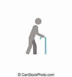 Disability Flat Icon - Disability Medical Flat Icon Vector...