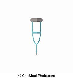 Crutches Flat Icon - Crutches. Medical Flat Icon. Vector...