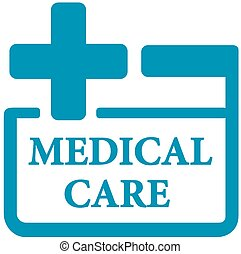 blue medical care icon - first aid kit symbol