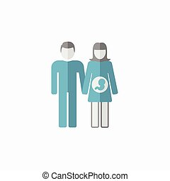 Maternity Flat Icon. Vector Pictogram.