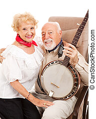 Country Seniors with Banjo