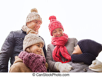 happy family outdoors - family, childhood, season and people...