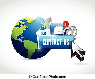 contact us around the globe concept