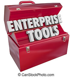 Enterprise Tools Red Metal Toolbox Company Business Software...