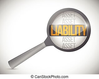 liabilities under review illustration design over a white...