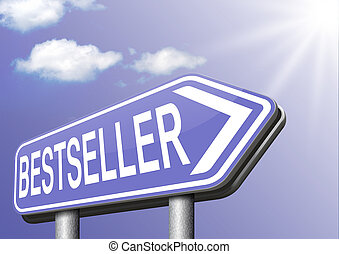 bestseller top product, most wanted item best seller book