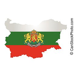 Bulgaria Flag - Flag of the Republic of Bulgaria overlaid on...