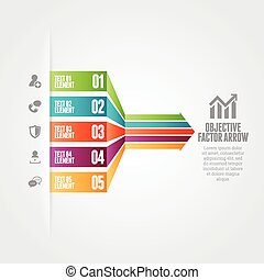 Objective Factor Arrow - Vector illustration of objective...