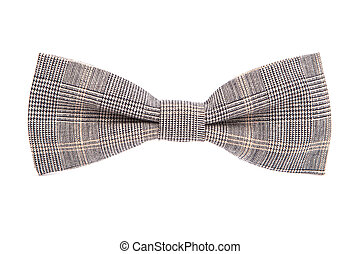 checkered bow tie isolated on white background